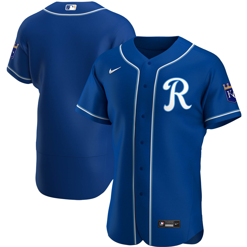 2020 MLB Men Kansas City Royals Nike Royal Alternate 2020 Authentic Team Jersey 1