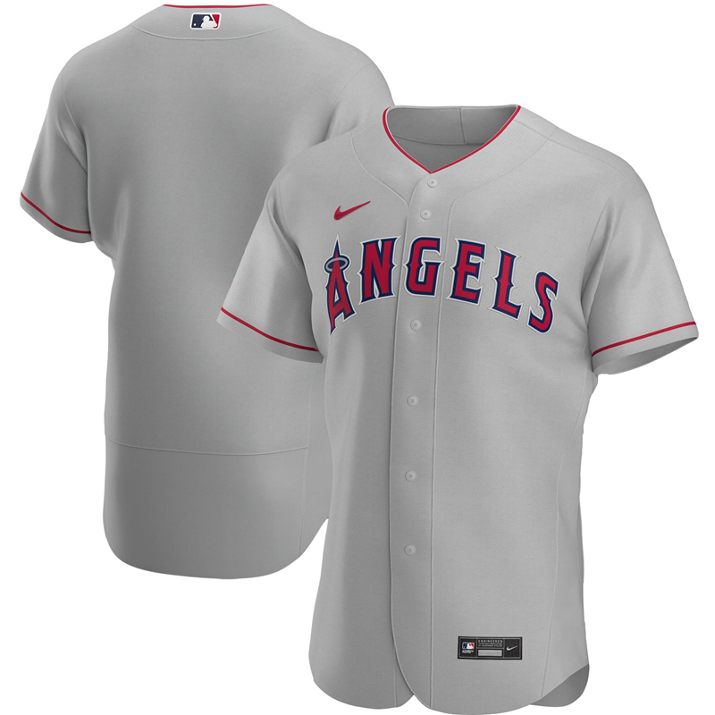 2020 MLB Men Los Angeles Angels Nike Gray Road 2020 Authentic Player Jersey 1