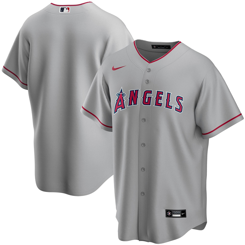 2020 MLB Men Los Angeles Angels Nike Gray Road 2020 Replica Team Jersey 1