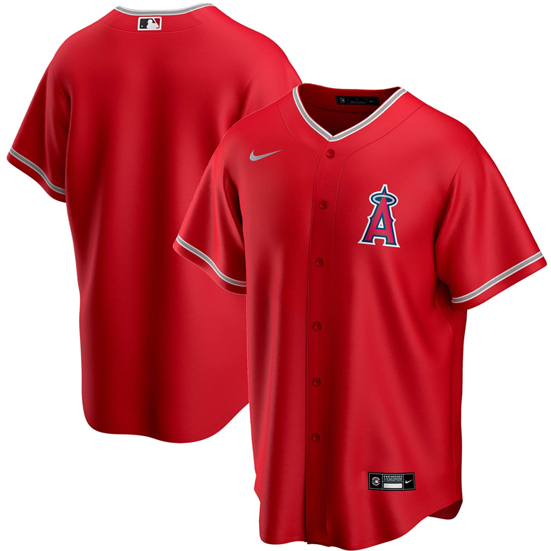 2020 MLB Men Los Angeles Angels Nike Red 2020 Spring Training Replica Team Jersey 1