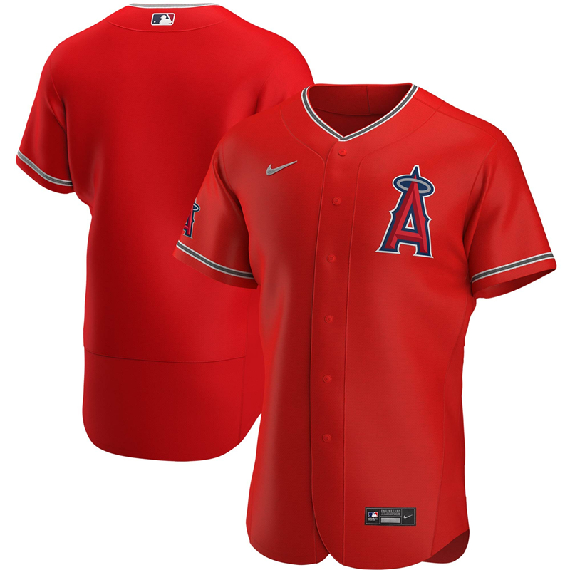 2020 MLB Men Los Angeles Angels Nike Red Alternate 2020 Authentic Logo Team Jersey 1