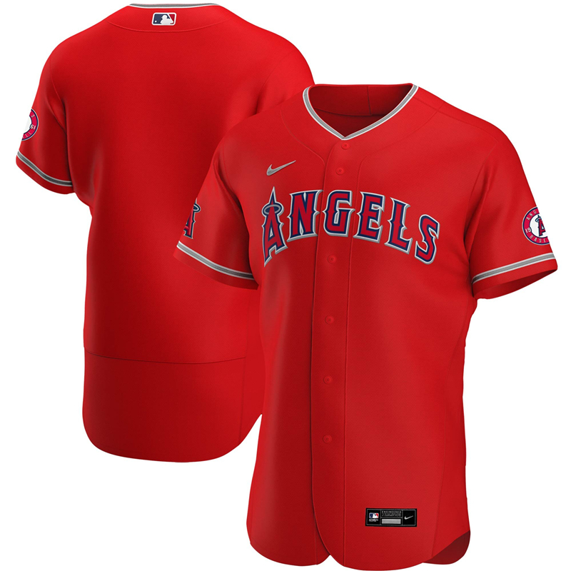 2020 MLB Men Los Angeles Angels Nike Red Alternate 2020 Authentic Team Jersey 1