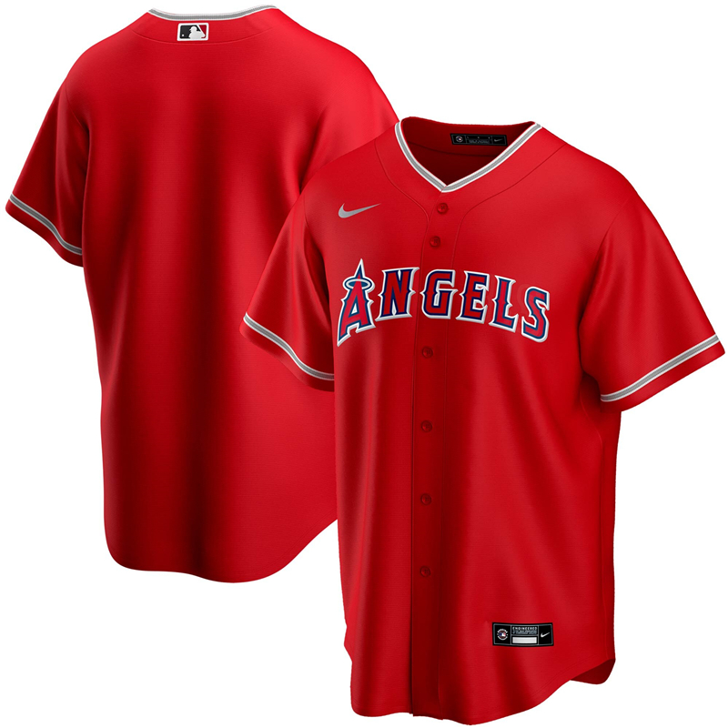 2020 MLB Men Los Angeles Angels Nike Red Alternate 2020 Replica Team Jersey 1