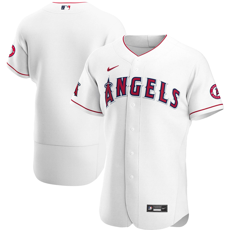 2020 MLB Men Los Angeles Angels Nike White Home 2020 Authentic Team Jersey 1