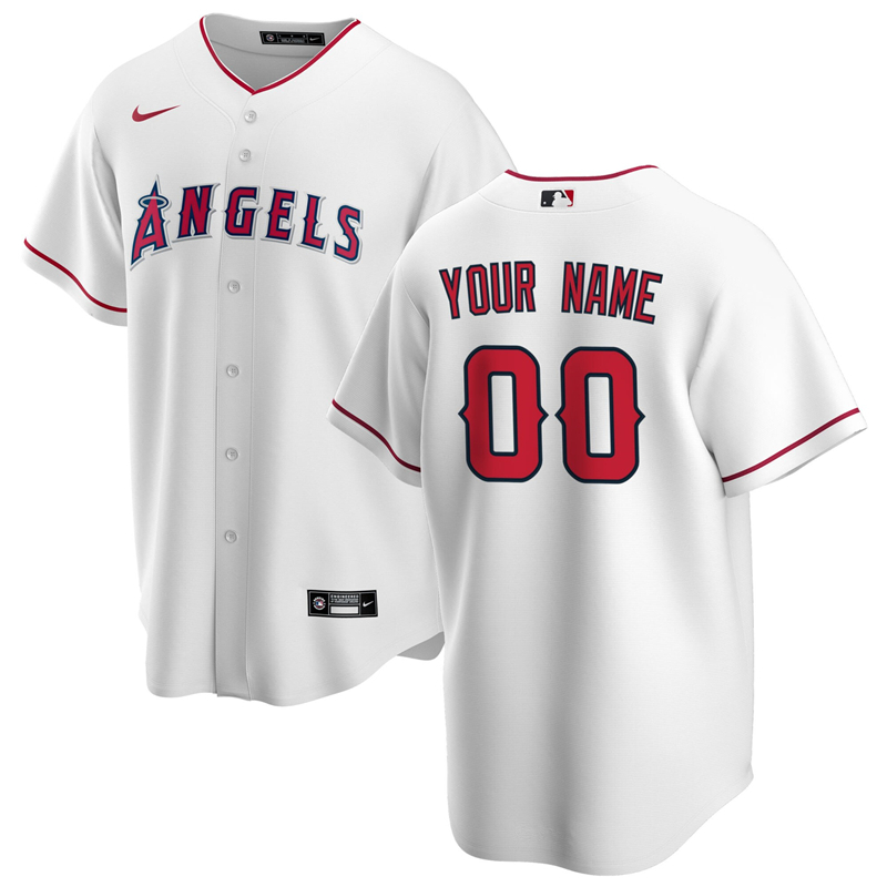 2020 MLB Men Los Angeles Angels Nike White Home 2020 Replica Custom Jersey 1