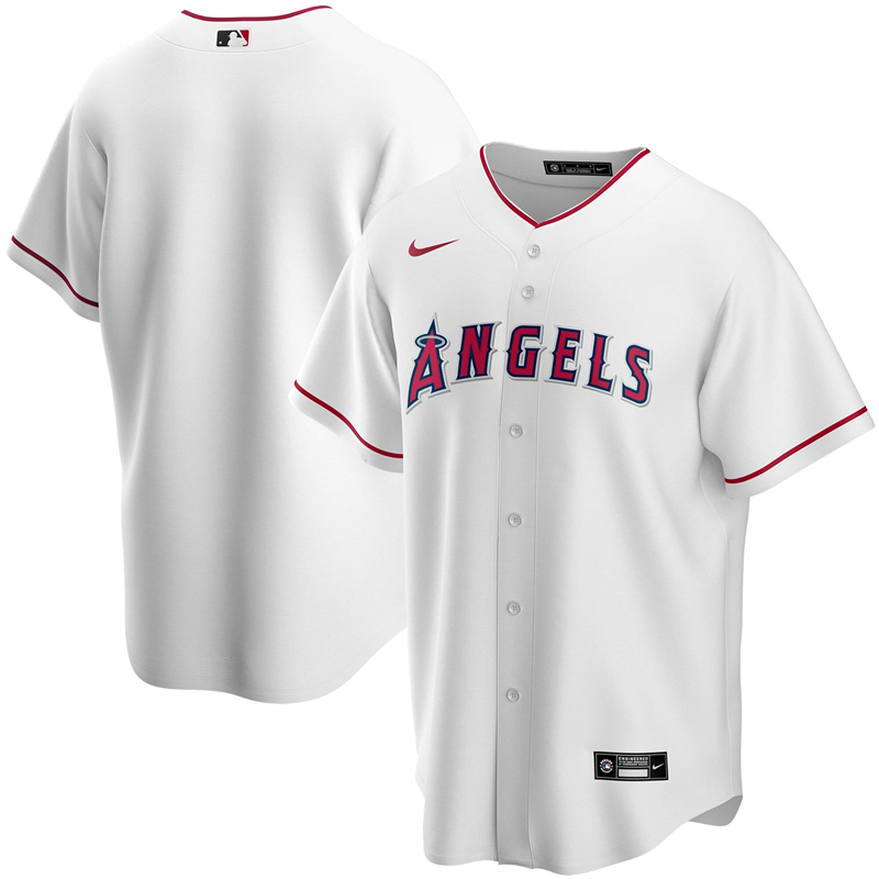 2020 MLB Men Los Angeles Angels Nike White Home 2020 Replica Team Jersey 1