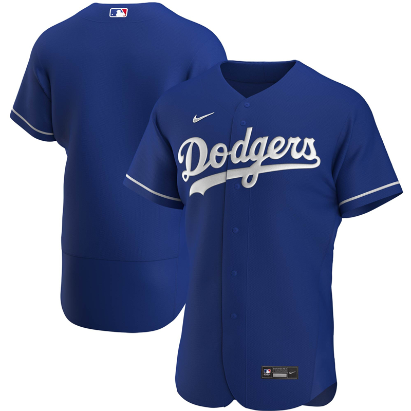 2020 MLB Men Los Angeles Dodgers Nike Royal Alternate 2020 Authentic Official Team Jersey 1