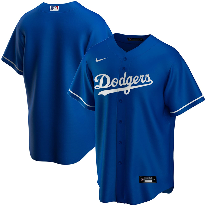 2020 MLB Men Los Angeles Dodgers Nike Royal Alternate 2020 Replica Team Jersey 1