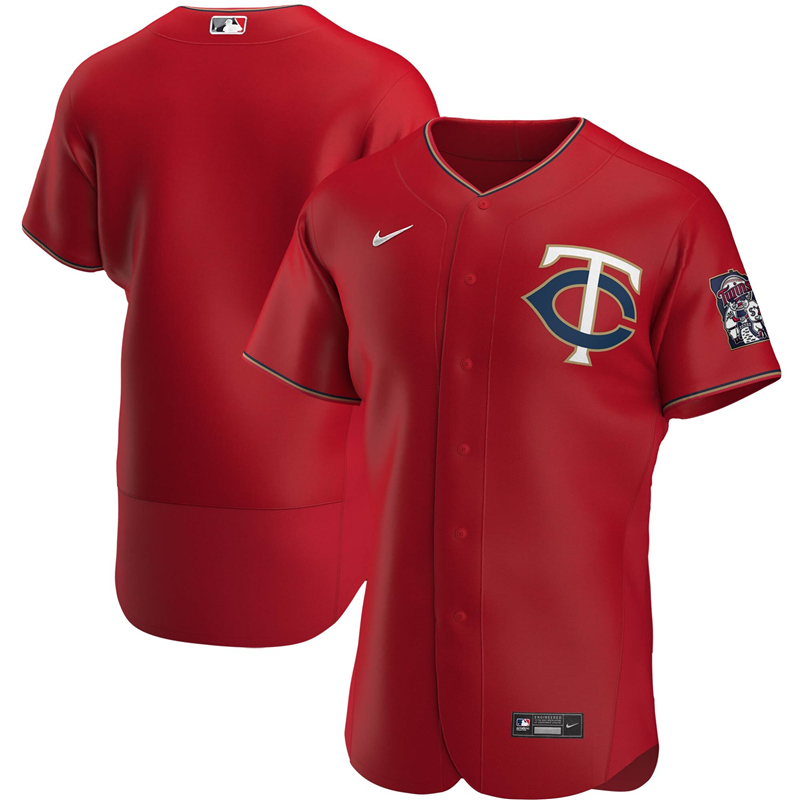 2020 MLB Men Minnesota Twins Nike Red Alternate 2020 Authentic Official Team Jersey 1