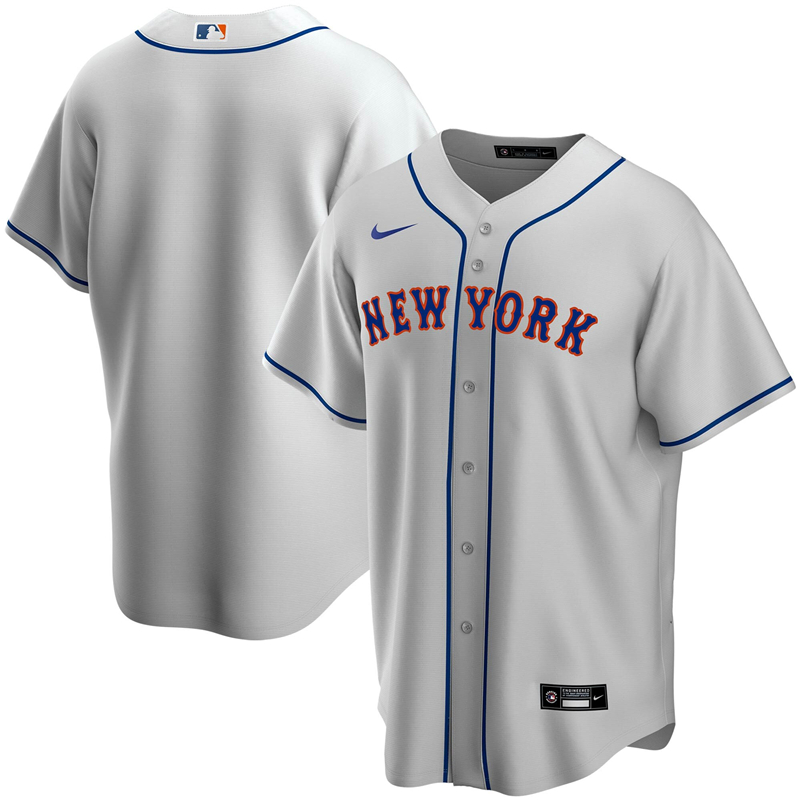 2020 MLB Men New York Mets Nike Gray Road 2020 Replica Team Jersey 1