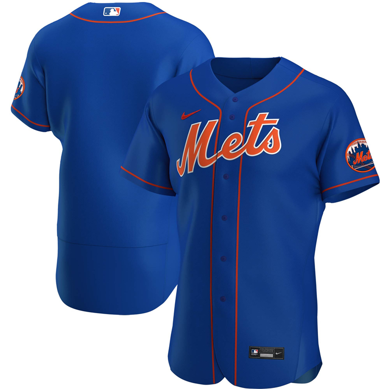 2020 MLB Men New York Mets Nike Royal Alternate 2020 Authentic Official Team Name Jersey 1