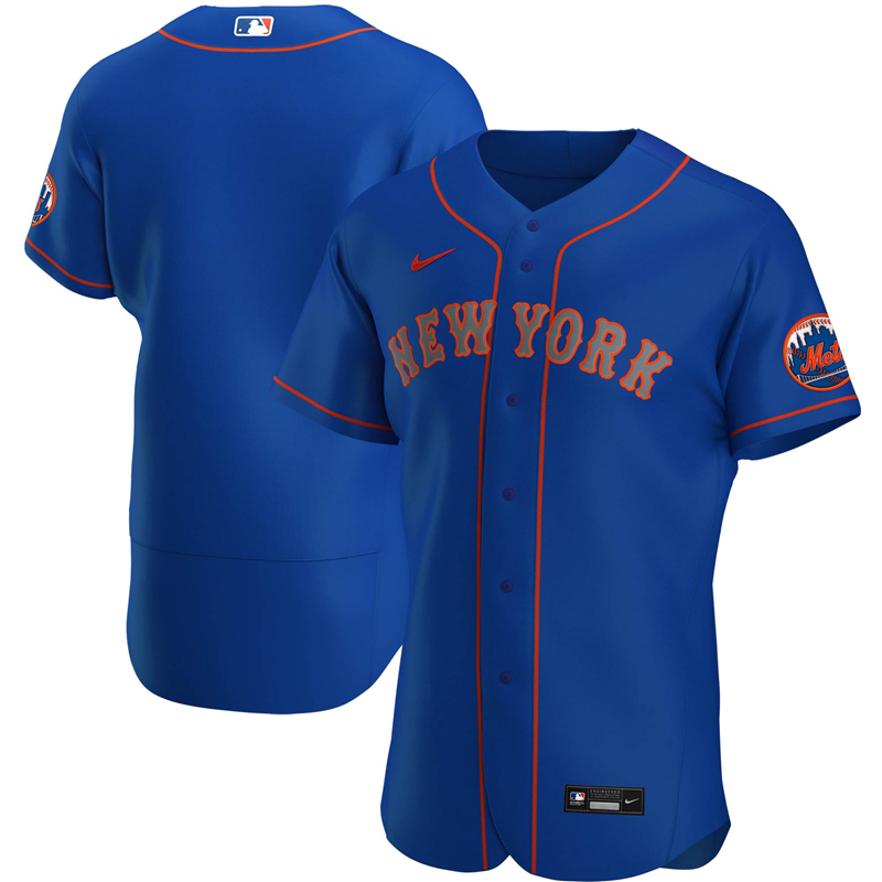 2020 MLB Men New York Mets Nike Royal Alternate 2020 Authentic Team Jersey 1