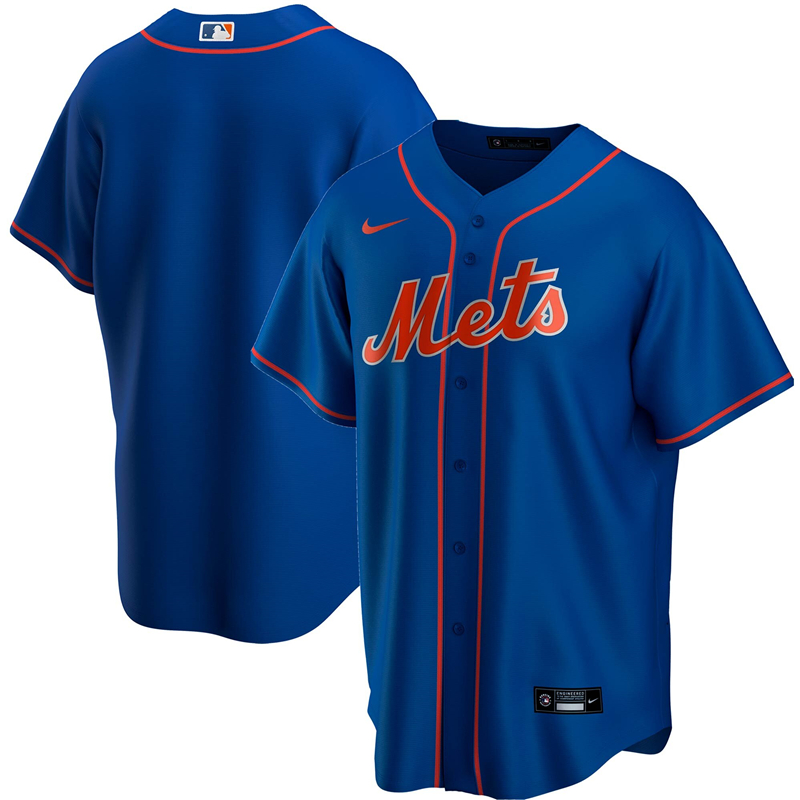 2020 MLB Men New York Mets Nike Royal Alternate 2020 Replica Jersey 1