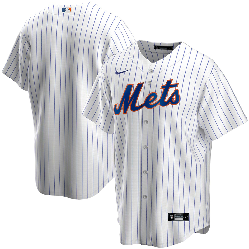 2020 MLB Men New York Mets Nike White Home 2020 Replica Team Jersey 1
