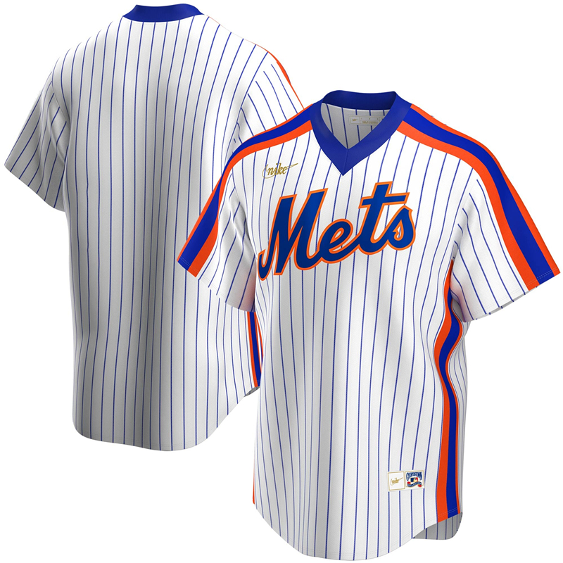 2020 MLB Men New York Mets Nike White Home Cooperstown Collection Team Jersey 1