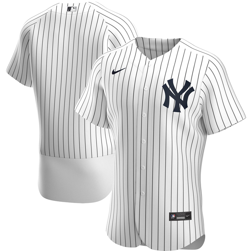 2020 MLB Men New York Yankees Nike White Home 2020 Authentic Official Team Jersey 1