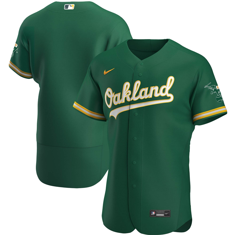 2020 MLB Men Oakland Athletics Nike Kelly Green 2020 Authentic Official Team Jersey 1
