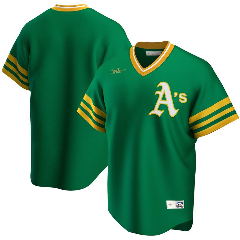 2020 MLB Men Oakland Athletics Nike Kelly Green Road Cooperstown Collection Team Jersey 1