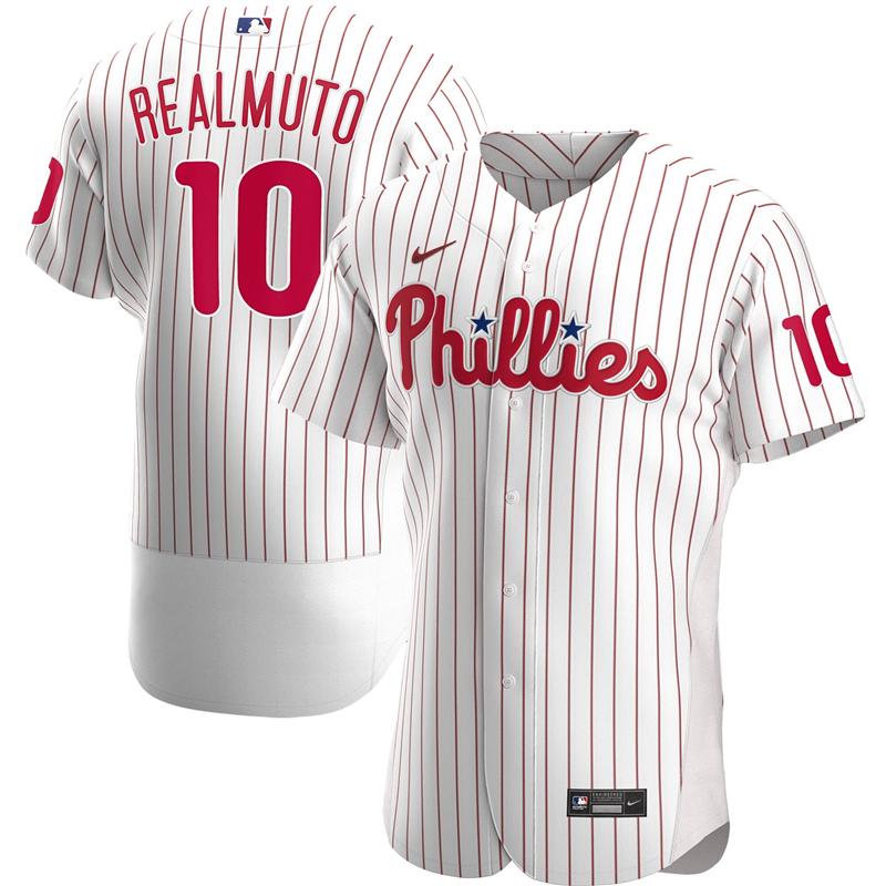 2020 MLB Men Philadelphia Phillies JT Realmuto Nike White Home 2020 Authentic Player Jersey 1