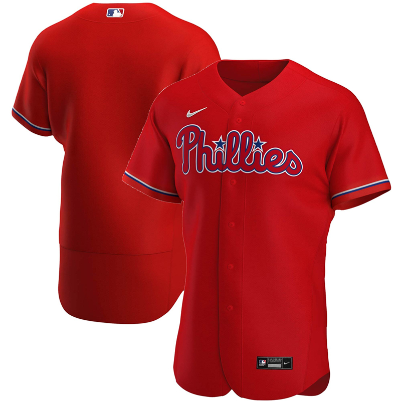 2020 MLB Men Philadelphia Phillies Nike Red Alternate 2020 Authentic Team Jersey 1