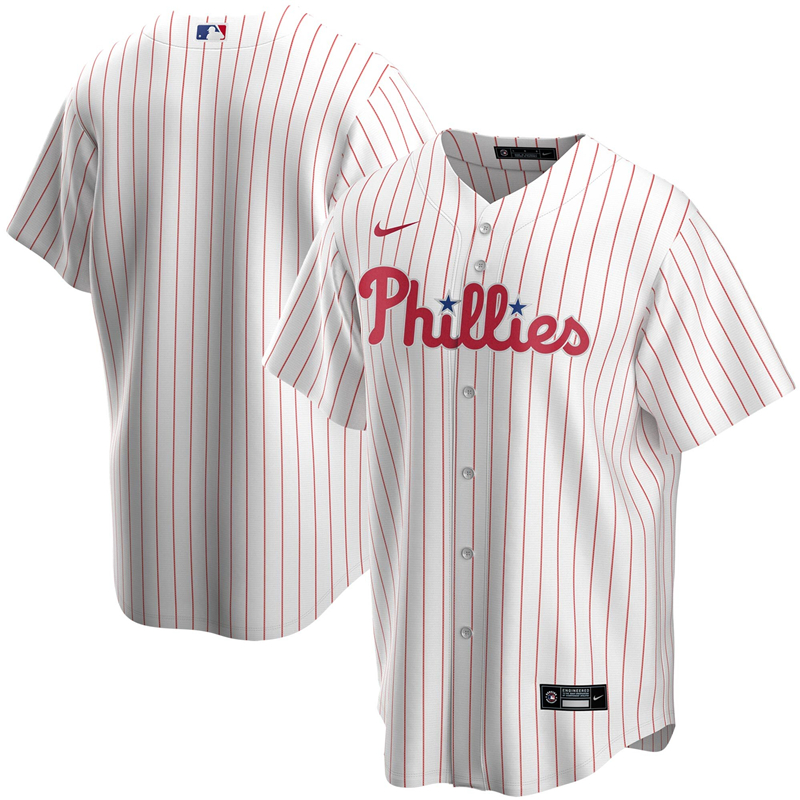 2020 MLB Men Philadelphia Phillies Nike White Home 2020 Replica Team Jersey 1