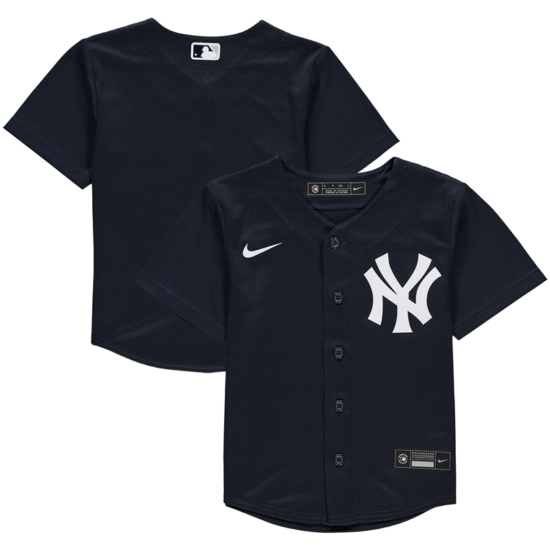 2020 MLB Men Preschool New York Yankees Nike Navy Alternate 2020 Replica Team Jersey 1
