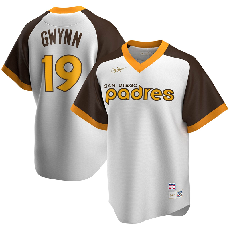 2020 MLB Men San Diego Padres 19 Tony Gwynn Nike White Home Cooperstown Collection Player Jersey 1