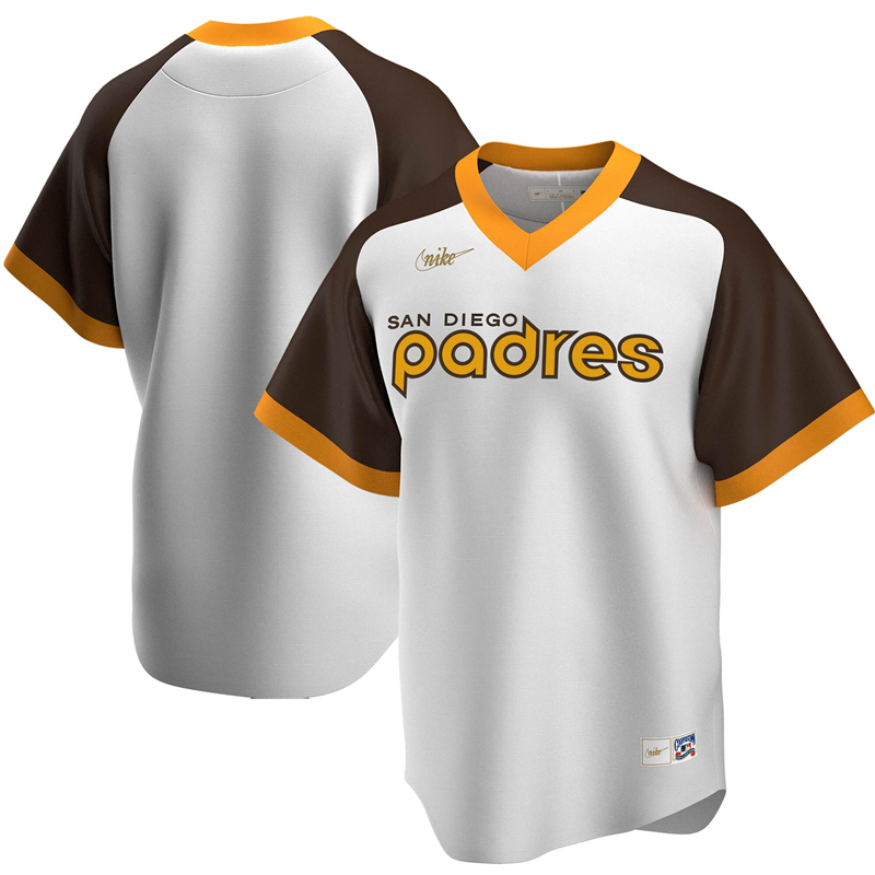 2020 MLB Men San Diego Padres Nike White Home Cooperstown Collection Team Jersey 1