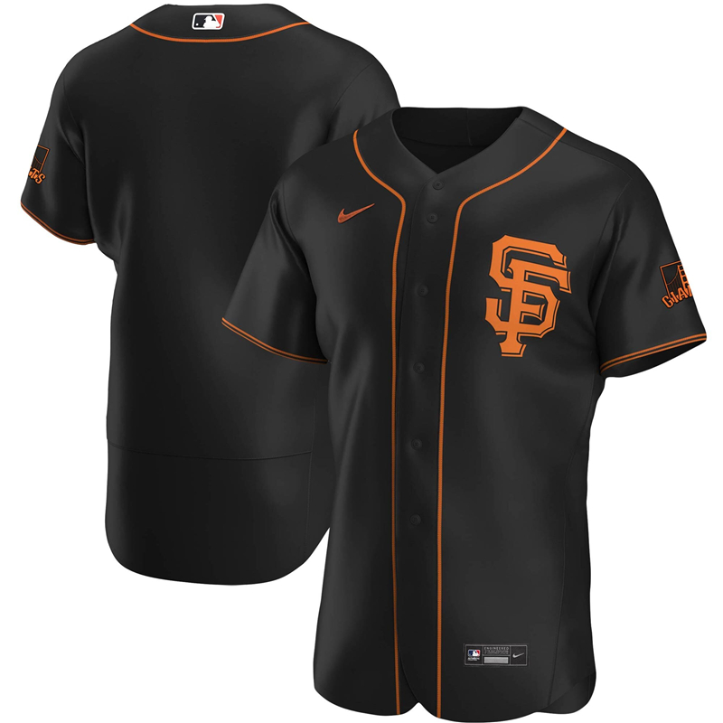 2020 MLB Men San Francisco Giants Nike Black Alternate 2020 Authentic Official Team Jersey 1