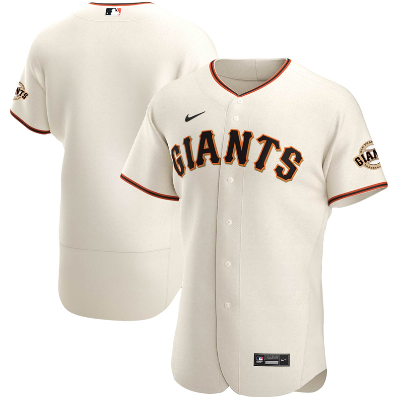 2020 MLB Men San Francisco Giants Nike Cream Home 2020 Authentic Official Team Jersey 1