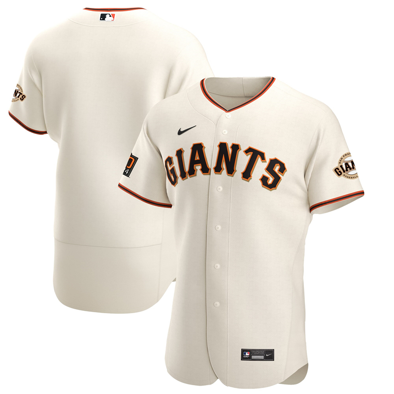 2020 MLB Men San Francisco Giants Nike Cream Home 2020 Authentic Team Jersey 1