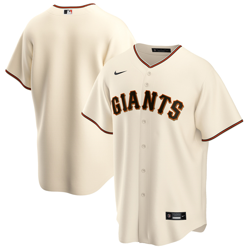 2020 MLB Men San Francisco Giants Nike Cream Home 2020 Official Replica Team Jersey 1
