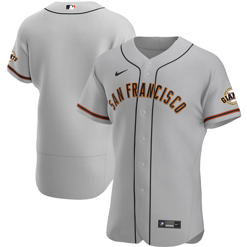 2020 MLB Men San Francisco Giants Nike Gray Road 2020 Authentic Official Team Jersey 1