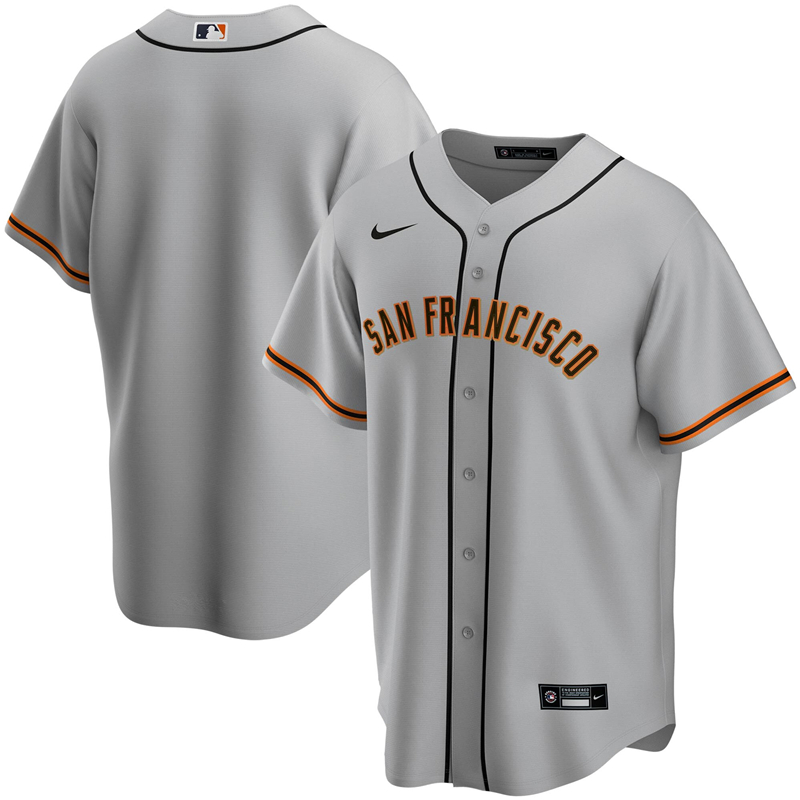 2020 MLB Men San Francisco Giants Nike Gray Road 2020 Replica Team Jersey 1