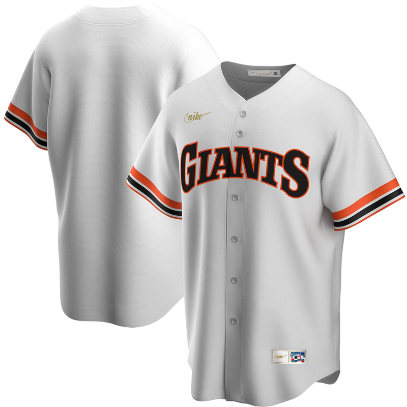 2020 MLB Men San Francisco Giants Nike White Home Cooperstown Collection Team Jersey 1
