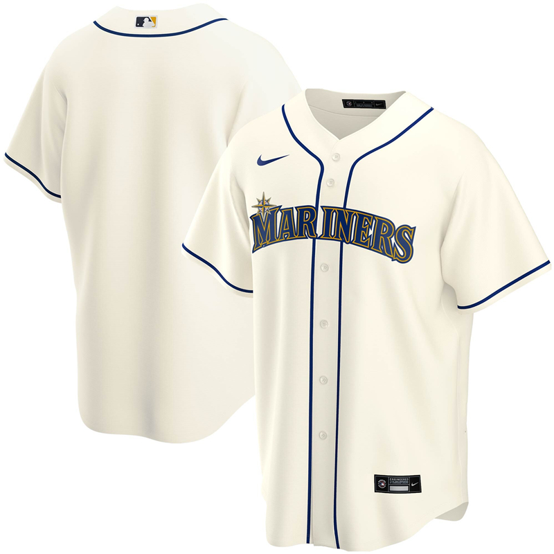 2020 MLB Men Seattle Mariners Nike Cream Alternate 2020 Replica Team Jersey 1
