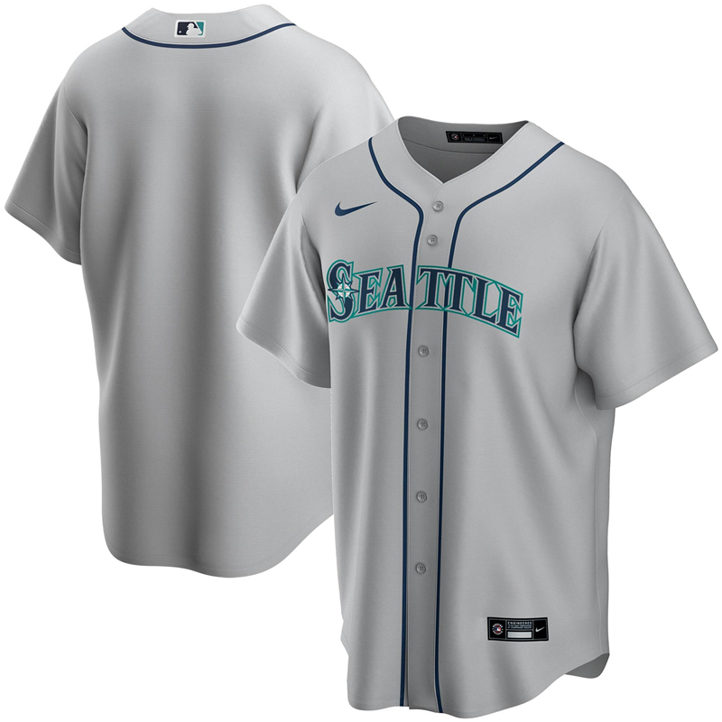 2020 MLB Men Seattle Mariners Nike Gray Road 2020 Replica Team Jersey 1