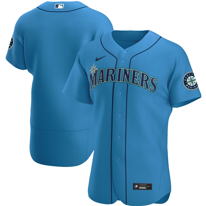 2020 MLB Men Seattle Mariners Nike Royal Alternate 2020 Authentic Official Team Jersey 1