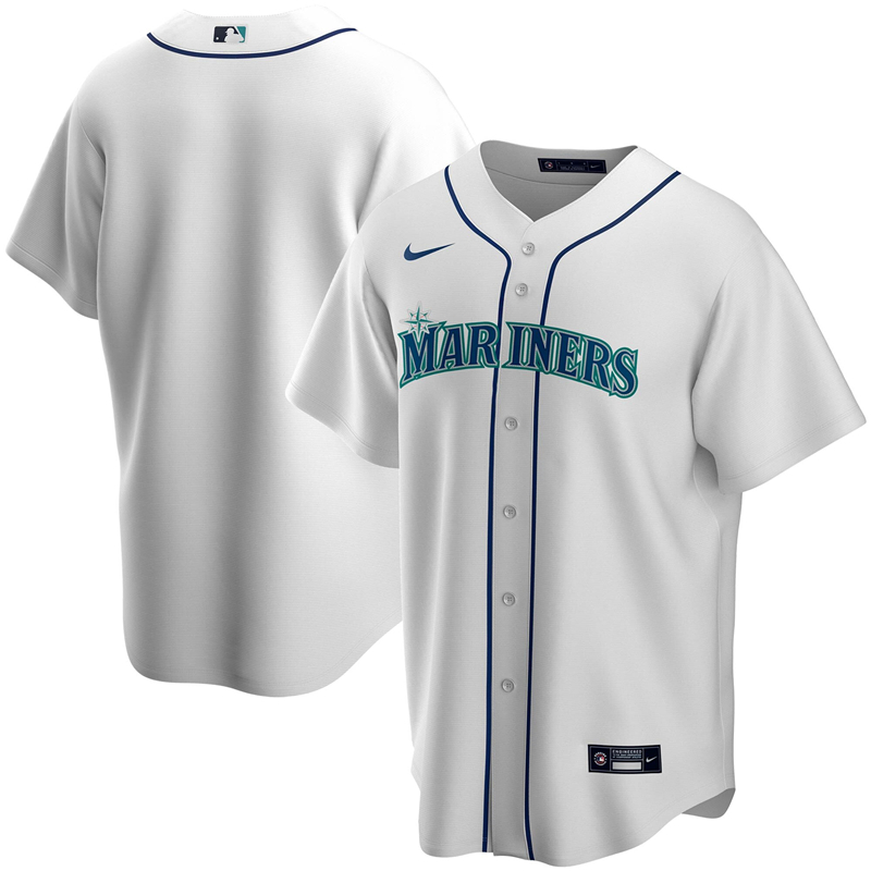 2020 MLB Men Seattle Mariners Nike White Home 2020 Replica Team Jersey 1