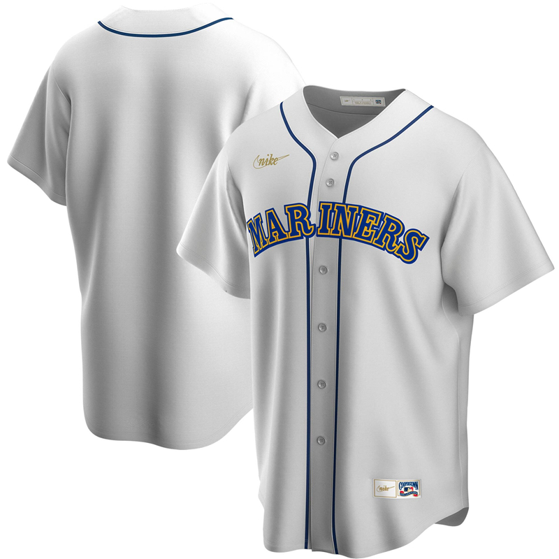 2020 MLB Men Seattle Mariners Nike White Home Cooperstown Collection Team Jersey 1