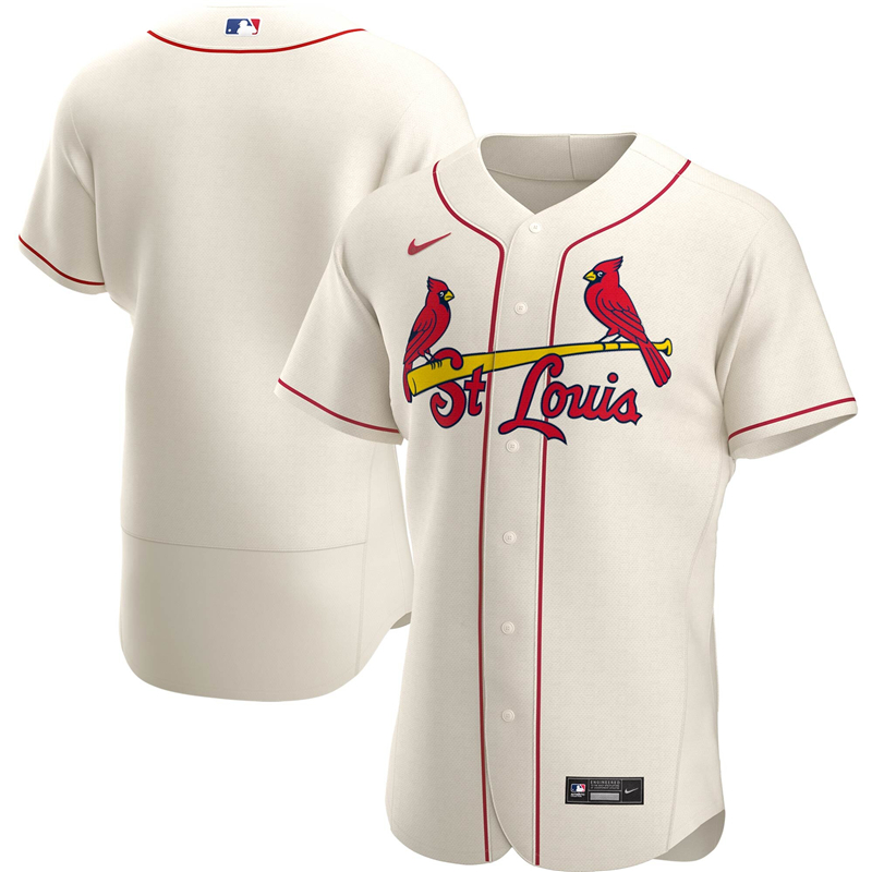 2020 MLB Men St. Louis Cardinals Nike Cream Alternate 2020 Authentic Player Jersey 1