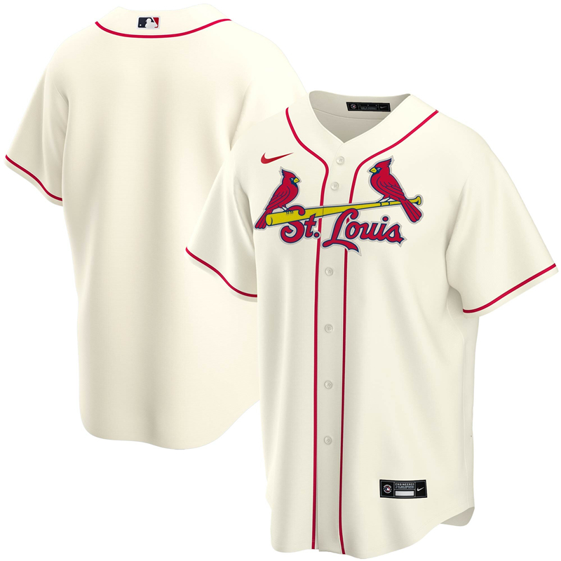 2020 MLB Men St. Louis Cardinals Nike Cream Alternate 2020 Replica Team Jersey 1