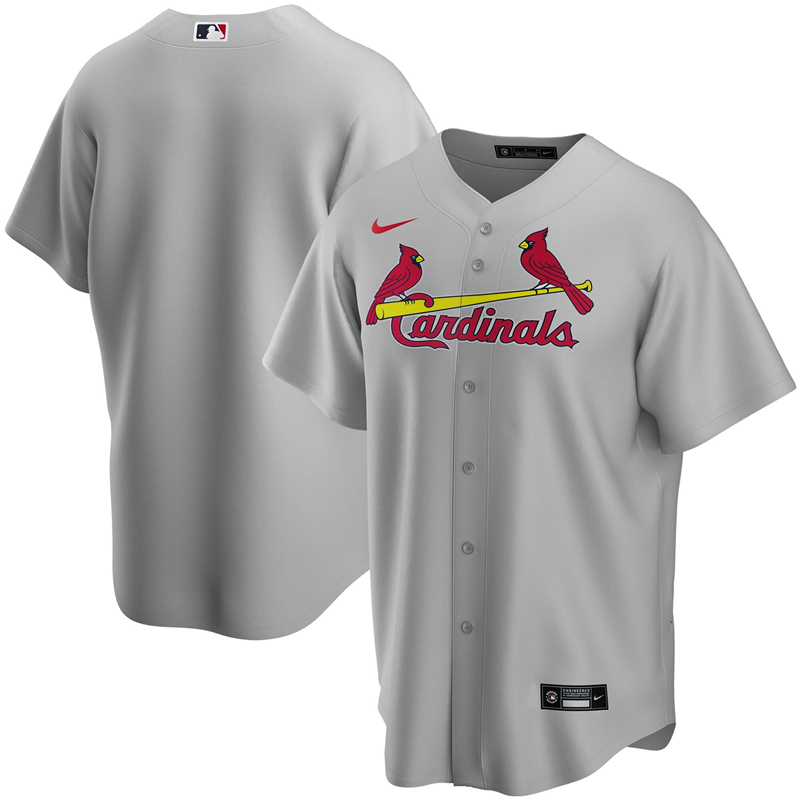 2020 MLB Men St. Louis Cardinals Nike Gray Road 2020 Replica Team Jersey 1