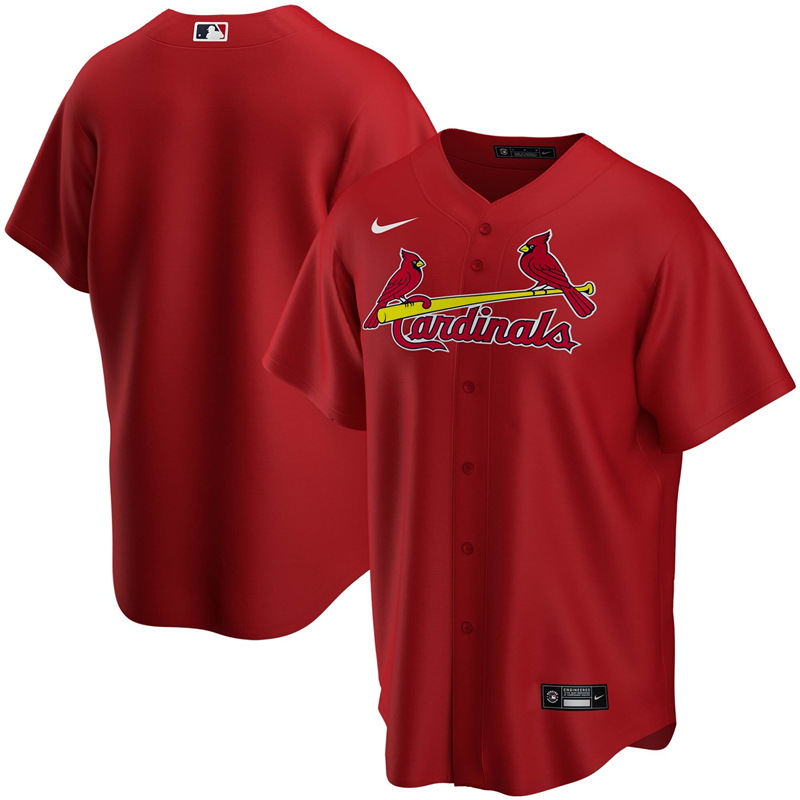 2020 MLB Men St. Louis Cardinals Nike Red Alternate 2020 Replica Team Jersey 1
