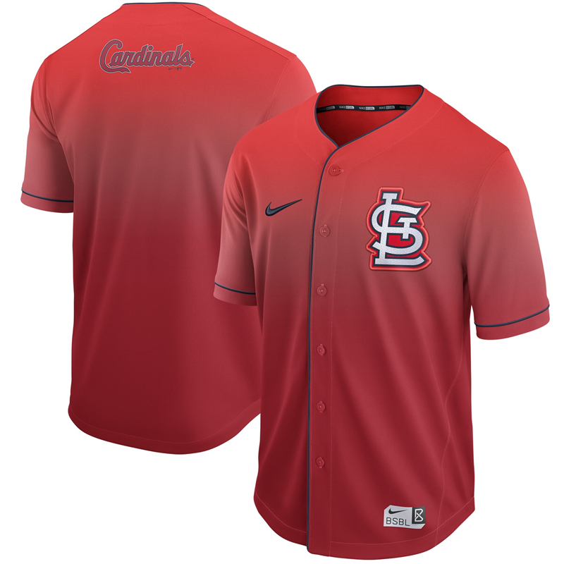 2020 MLB Men St. Louis Cardinals Nike Red Fade Jersey 1