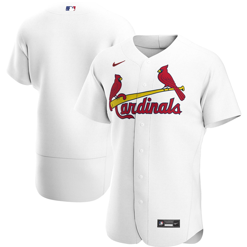 2020 MLB Men St. Louis Cardinals Nike White Home 2020 Authentic Team Jersey 1