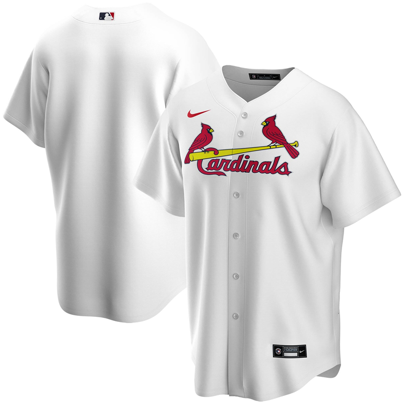 2020 MLB Men St. Louis Cardinals Nike White Home 2020 Replica Team Jersey 1
