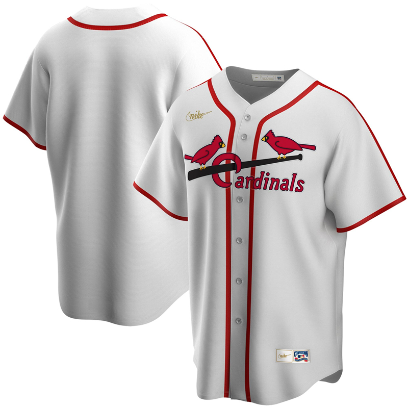 2020 MLB Men St. Louis Cardinals Nike White Home Cooperstown Collection Team Jersey 1