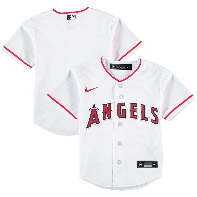 2020 MLB Preschool Los Angeles Angels Nike White Home 2020 Replica Team Jersey 1