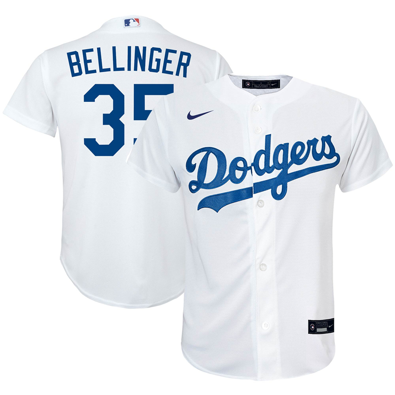 2020 MLB Preschool Los Angeles Dodgers Cody Bellinger Nike White Home 2020 Replica Player Jersey 1
